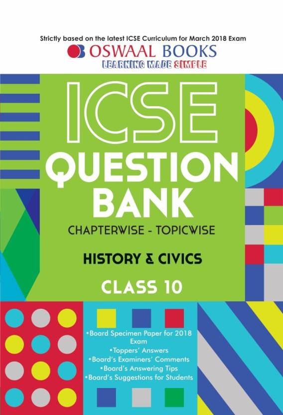 Oswaal ICSE Question Bank Chapterwise History and Civics for