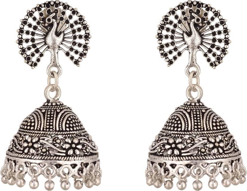 Purplestones New Fashion Alloy Jhumki Earring