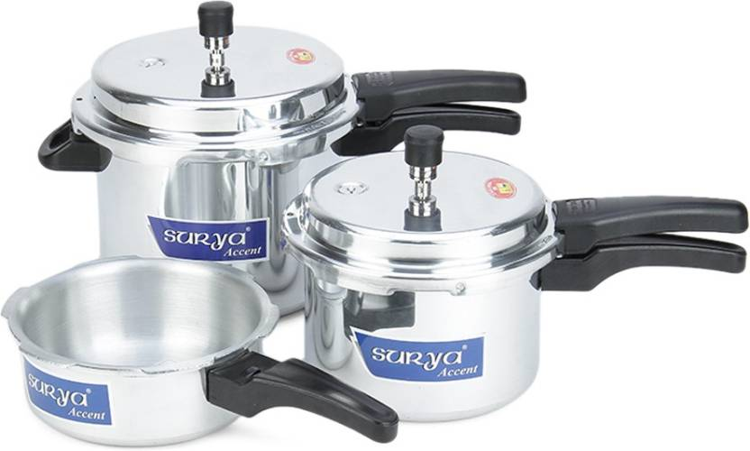 Surya Accent Induction Bottom 2 L, 3 L, 5 L Pressure Cooker with Induction Bottom