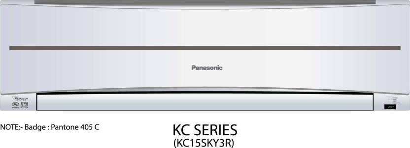 Panasonic 1.2 Ton 3 Star BEE Rating 2017 Split AC  - White  (CS/CU-KC15SKY3R, Copper Condenser)