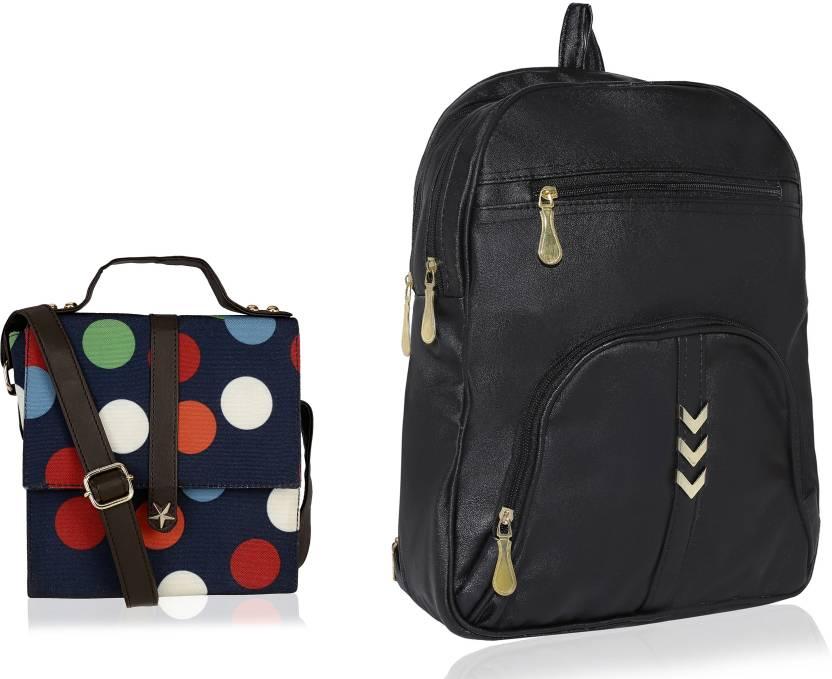 c6f5d6d711e4 Kleio combo of Designer Sling Bag   Elegant Zipper Backpack for Girls    Women 4 L Backpack (Blue