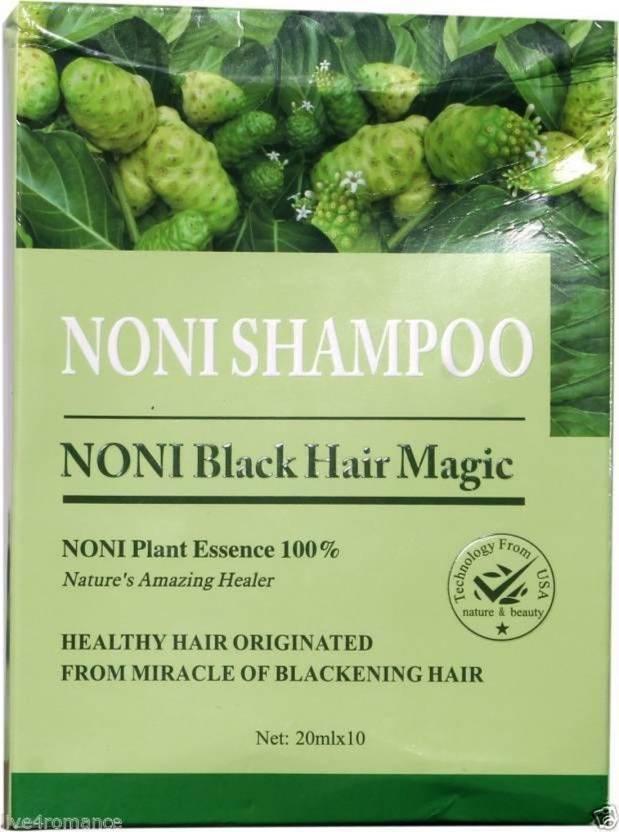 JADFIA 10x20ml BSY NONI Herbal Original Black Hair Magic Natural Essence Shampoo Hair Color (BLACK)