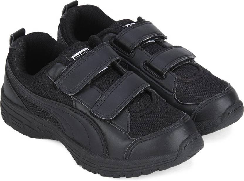 amazon look for hot sale online Puma Boys Velcro Running Shoes