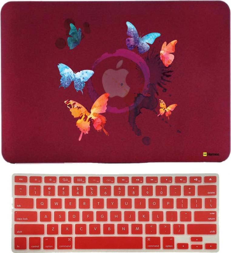 Hamee Macbook Air 13 Inch Cover With Keyboard Skin Combo 187 Rubber