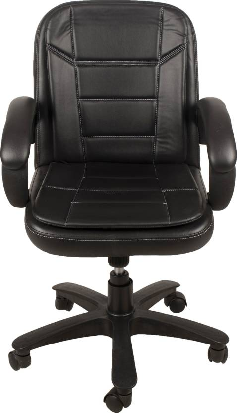 DZYN Furnitures Leatherette Office Executive Chair  (Black)