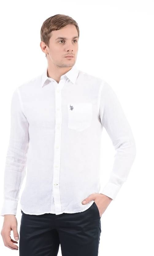 0093d8fc U.S. Polo Assn Men Solid Casual Shirt - Buy U.S. Polo Assn Men Solid Casual  Shirt Online at Best Prices in India | Flipkart.com