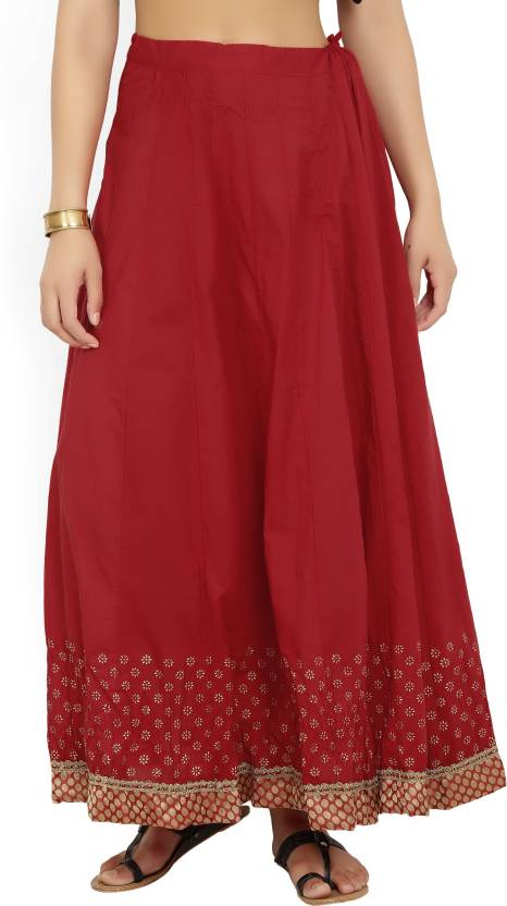 c1c2bc9645e6 Biba Solid Women Gathered Red Skirt - Buy RED Biba Solid Women Gathered Red  Skirt Online at Best Prices in India | Flipkart.com