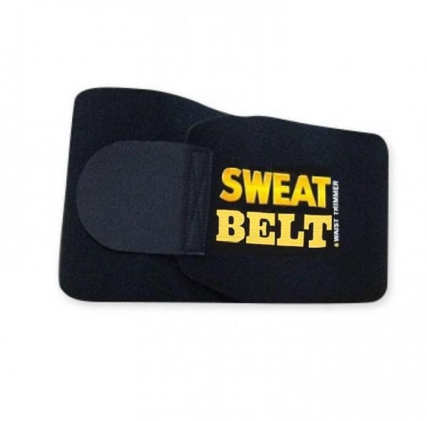 9e81d86bf74 Flier Free Size hot shaper Sweet Sweat Belt Waist Trimmer Belt Fat Burner  Belly Sauna Sweat Tummy Yoga Body Wrap for waist Slimming Belt (Black)