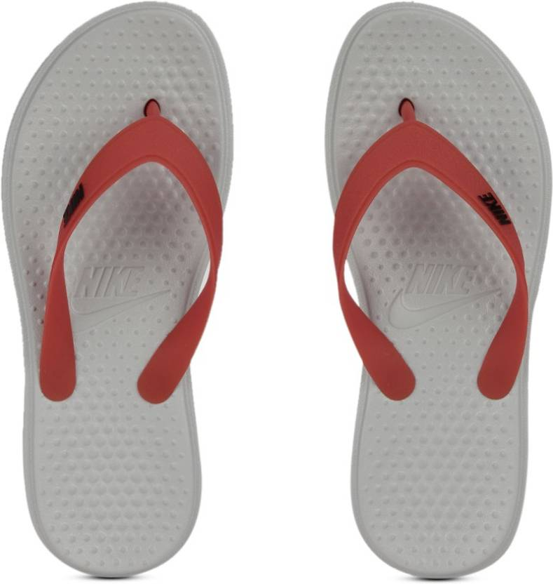 0d7a3825fc66cb Nike SOLAY THONG Slippers - Buy GREY RED Color Nike SOLAY THONG Slippers  Online at Best Price - Shop Online for Footwears in India