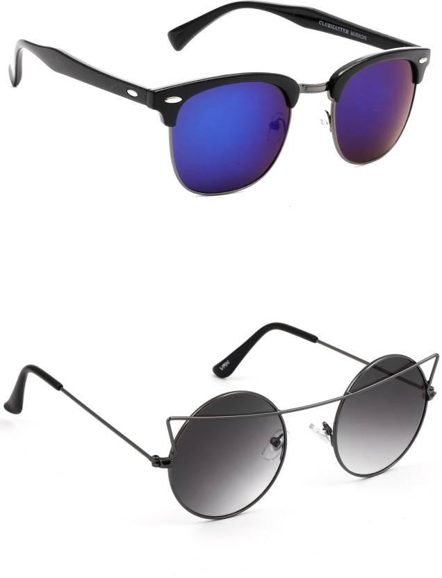 94f169c16 Buy Eyeland Wayfarer, Round, Oval Sunglasses Multicolor, Black For ...