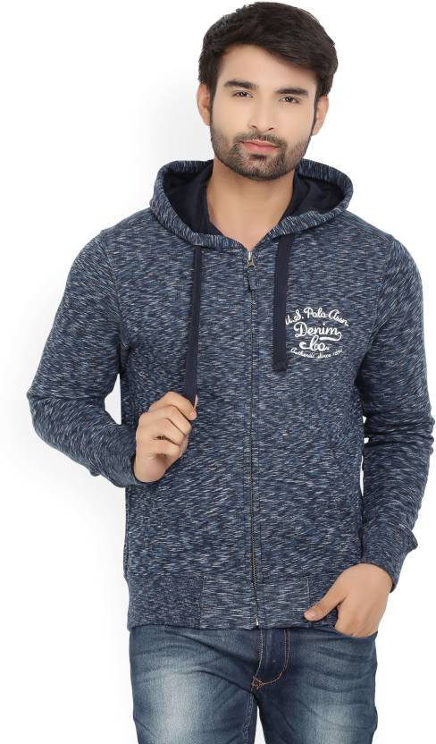 U.S. Polo Assn. Full Sleeve Solid Men's Sweatshirt