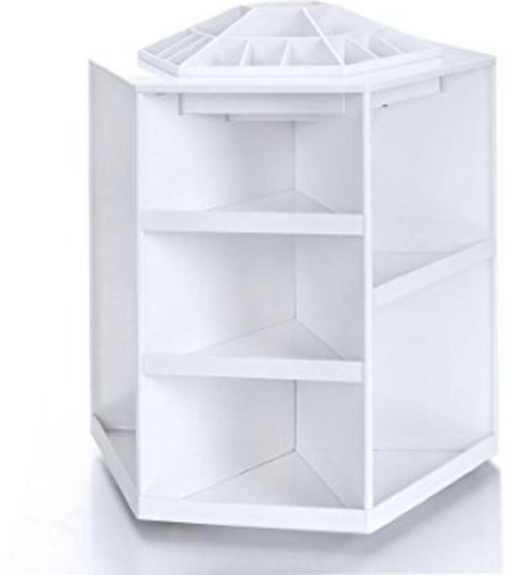 Ais Plastic 360 Degree Spinning Cosmetic Organizer Display Makeup Box Brush Cleanup Rotating Desktop Storage
