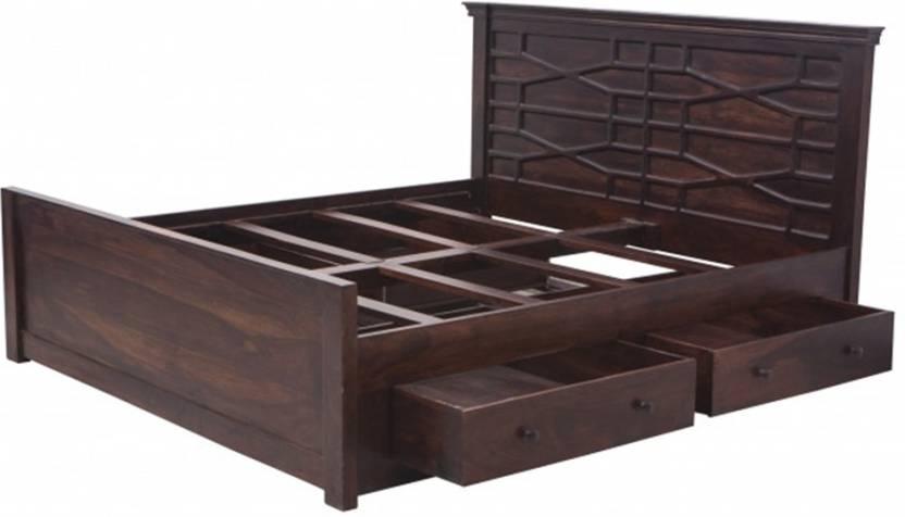 Nidoo Azmin King Size Storage Bed Am Ksbws 164 Solid Wood King