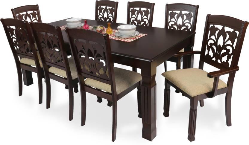 Fantastic Furnculture Veneto Solid Wood 8 Seater Dining Set Home Interior And Landscaping Ologienasavecom