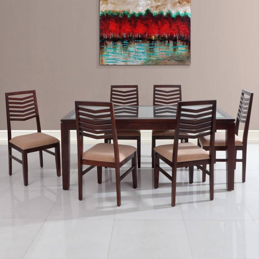 0d5de0b217 Evok Rio Solid Wood 6 Seater Dining Set Price in India - Buy Evok ...