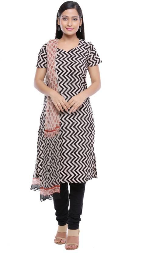 Soundarya Cotton Printed Salwar Suit Dupatta Material