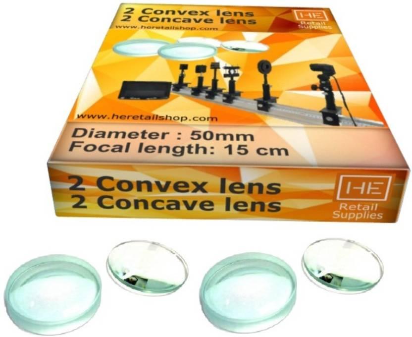 HE Retail Supplies Pack of 2 Concave Lens+ 2 Convex Lens