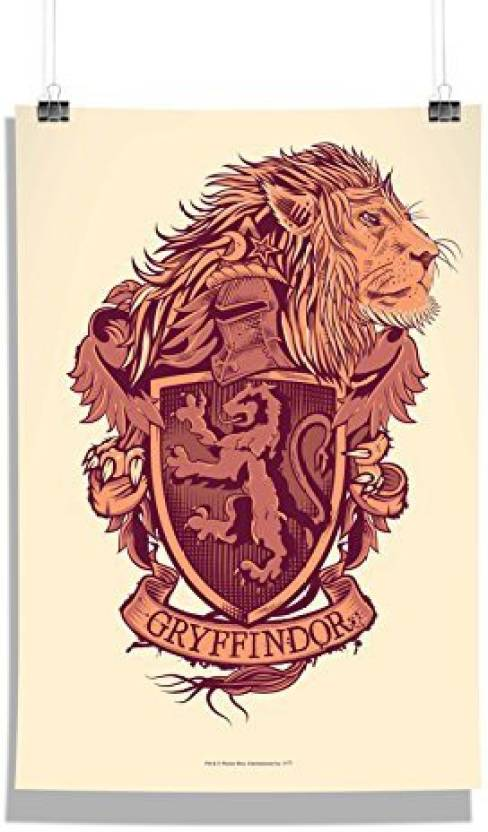 Official Harry Potter Gryffindor Logo W Lion Wall Decor