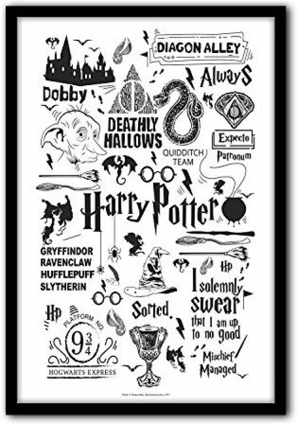 Official Harry Potter Black Wall Decor Home Office Poster