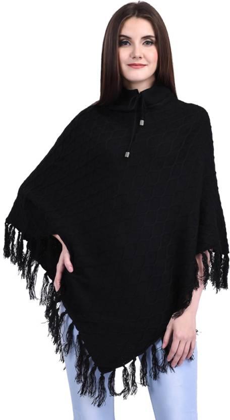 2e0df91d6 eCools Women Ladies Girls Winter wear Woolen Poncho - Buy eCools ...