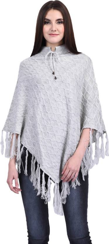 41970d8dabd SatSun Women Ladies Girls Winter wear Woolen Poncho - Buy SatSun ...