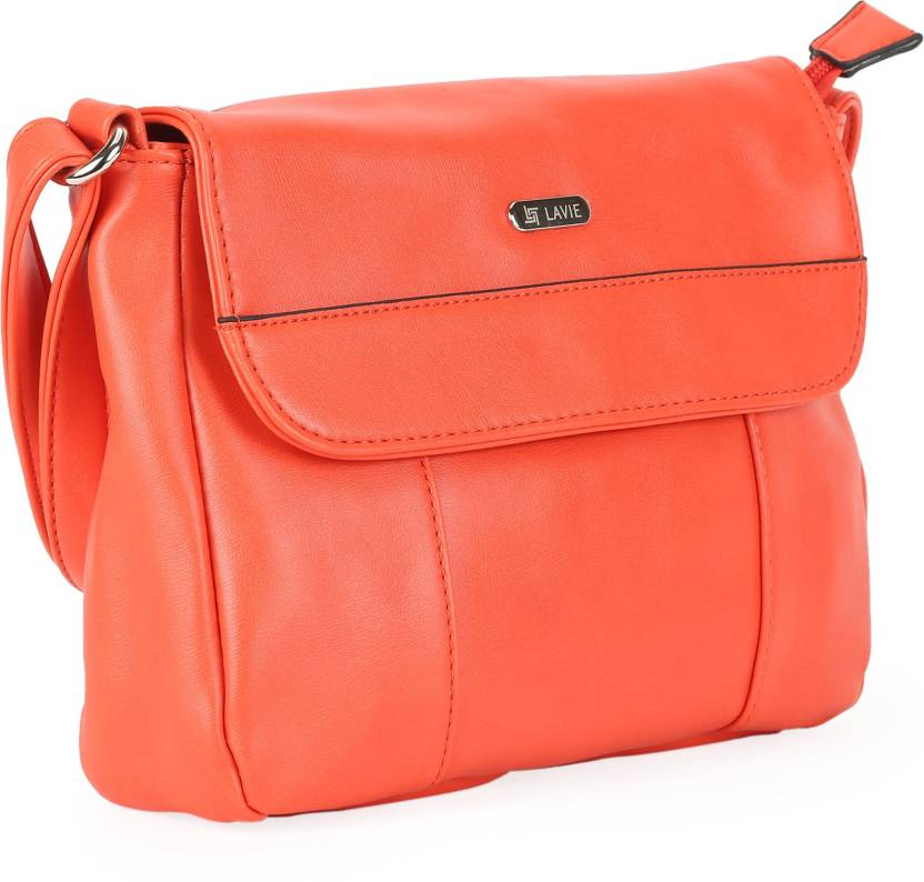 Lavie Women Orange PU Sling Bag