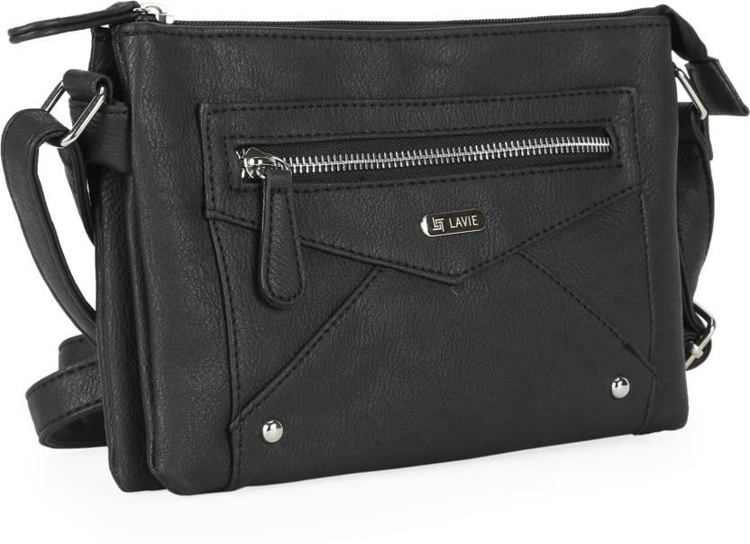 Lavie Women Casual Black PU Sling Bag BLACK - Price in India ... f0c96bc41ec32
