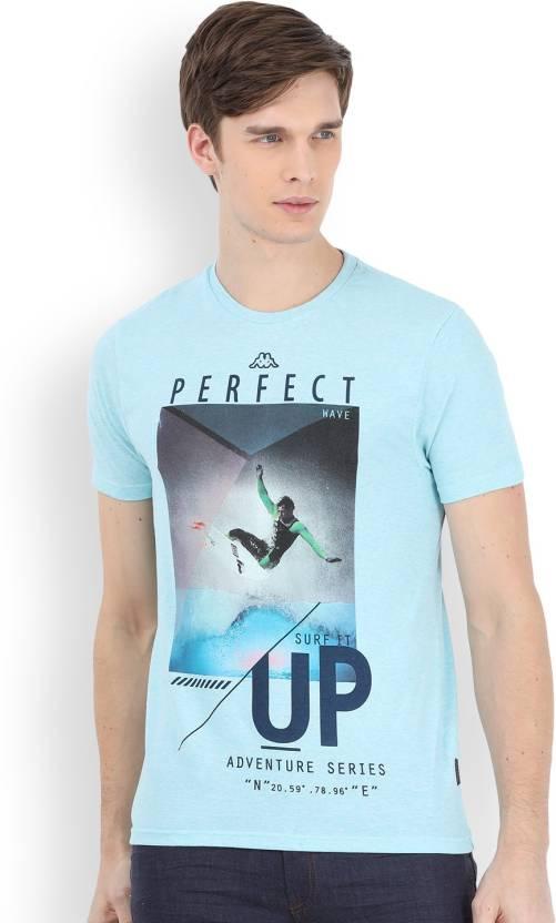 191ebe6d9e Kappa Men's T-Shirt - Buy LIGHT BLUE Kappa Men's T-Shirt Online at Best  Prices in India | Flipkart.com