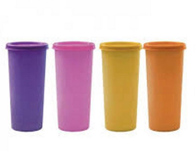 d79c2030dda Tupperware Rainbow Tumblers - (Set Of 4) 330 ml Bottle (Pack of 4,  Multicolor)