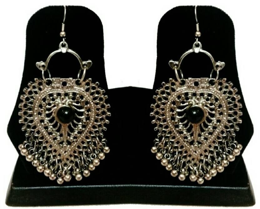 9273efa51 Flipkart.com - Buy A M INTERNATIONAL Silver Antique Luxury Partywear Ethnic  Afghan Tribal Afghani Earrings Alloy Drop Earring Online at Best Prices in  India