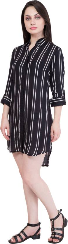 Hive91 Women's Shirt Black, White Dress