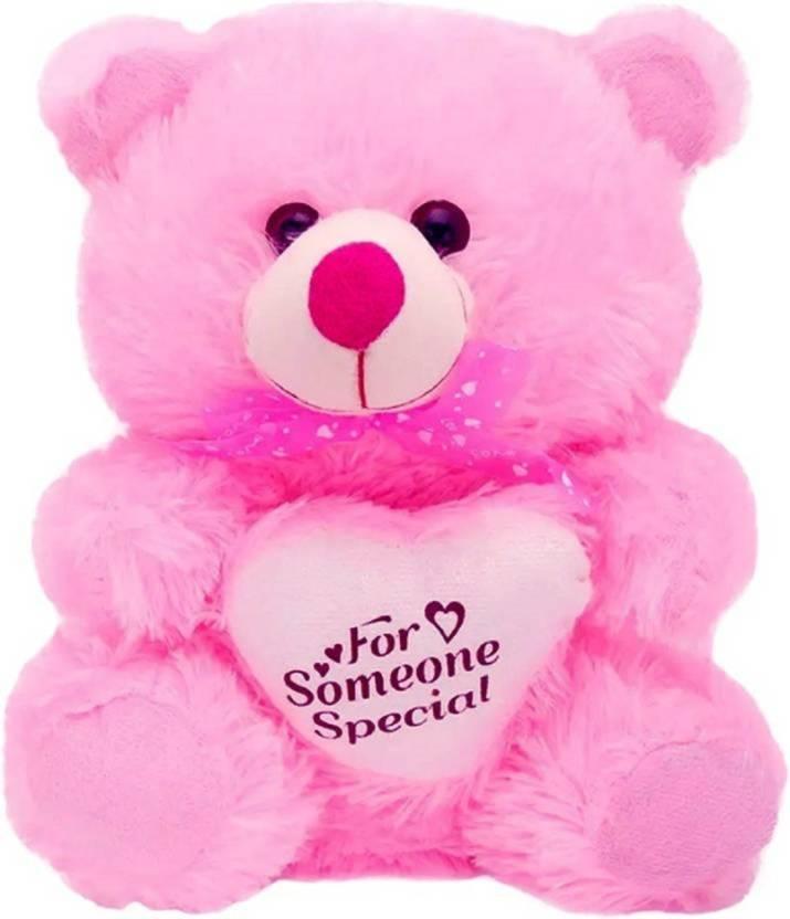 gvmc cute pink teddy bear with heart 60 cm cute pink teddy bear