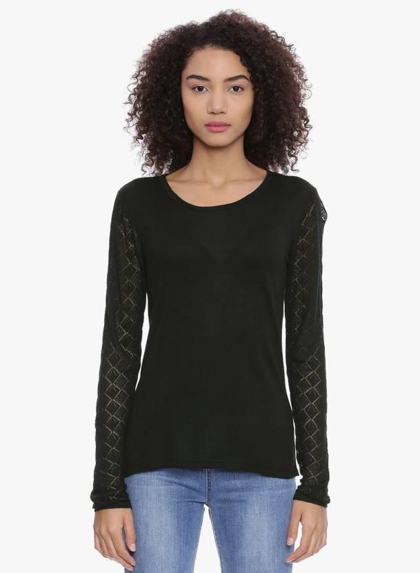 1901bb8c6dba9 Chumbak Solid Round Neck Casual Women Black Sweater - Buy Chumbak Solid  Round Neck Casual Women Black Sweater Online at Best Prices in India