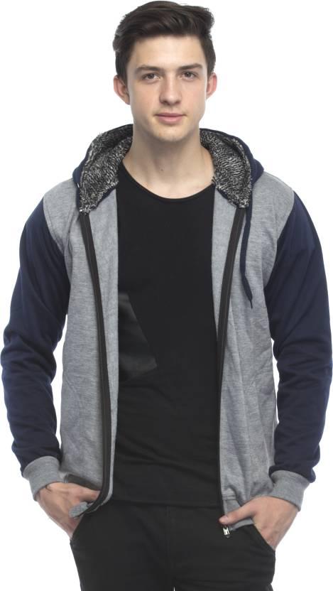 Lambency Full Sleeve Solid Mens Sweatshirt