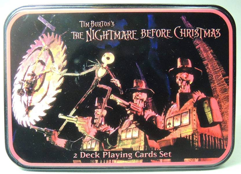 NECA Nightmare Before Christmas Playing Card Set - Nightmare Before ...