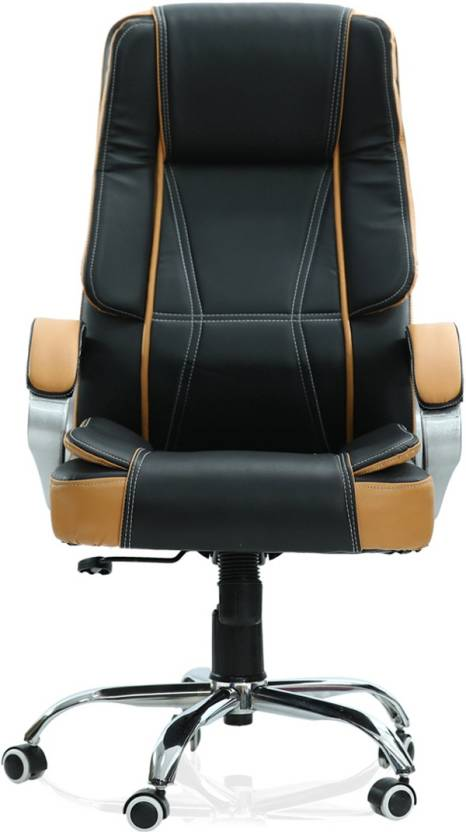 Green Soul Vienna High Back Office Chair Black Tan Leatherette Executive