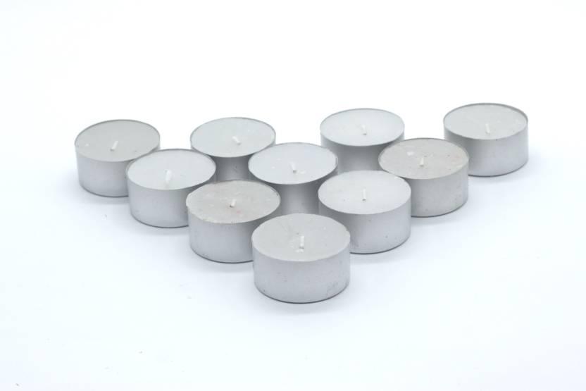 AuraDecor Fully Refine Paraffin Wax Smokeless, 30 Tea Light Candles Candle