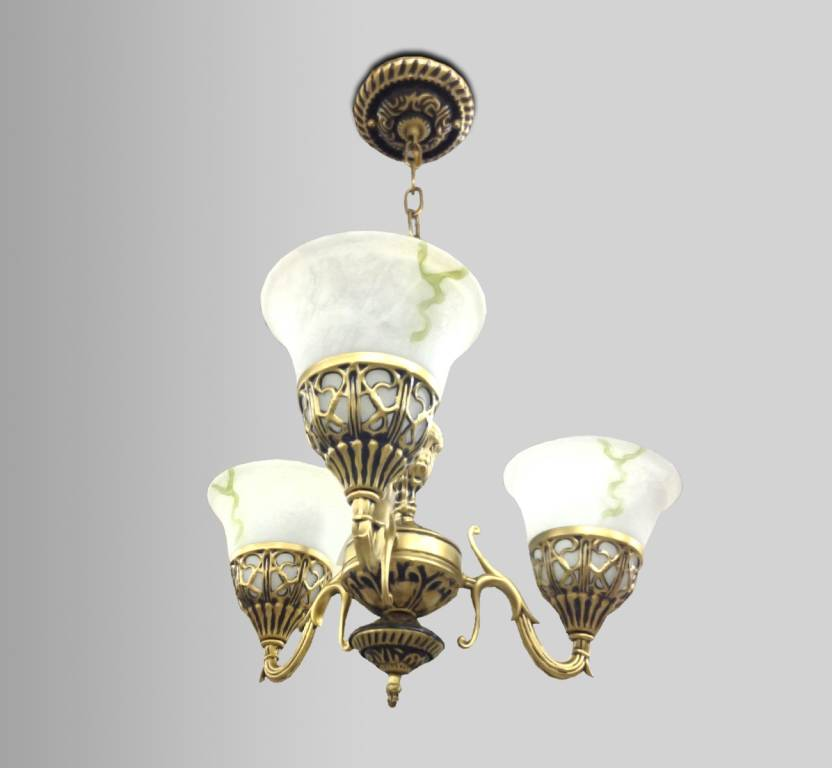 Finike Antique Pendant Light Fancy Brass Finish Hanging For Bedroom