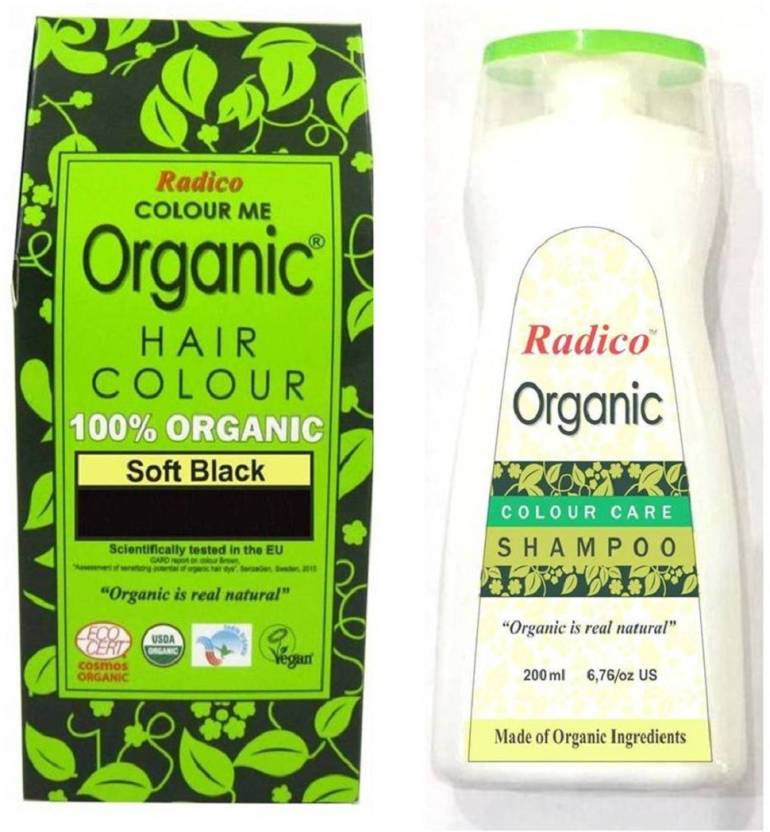 Radico 100 Usda Certified Organic Hair Color Soft Black With