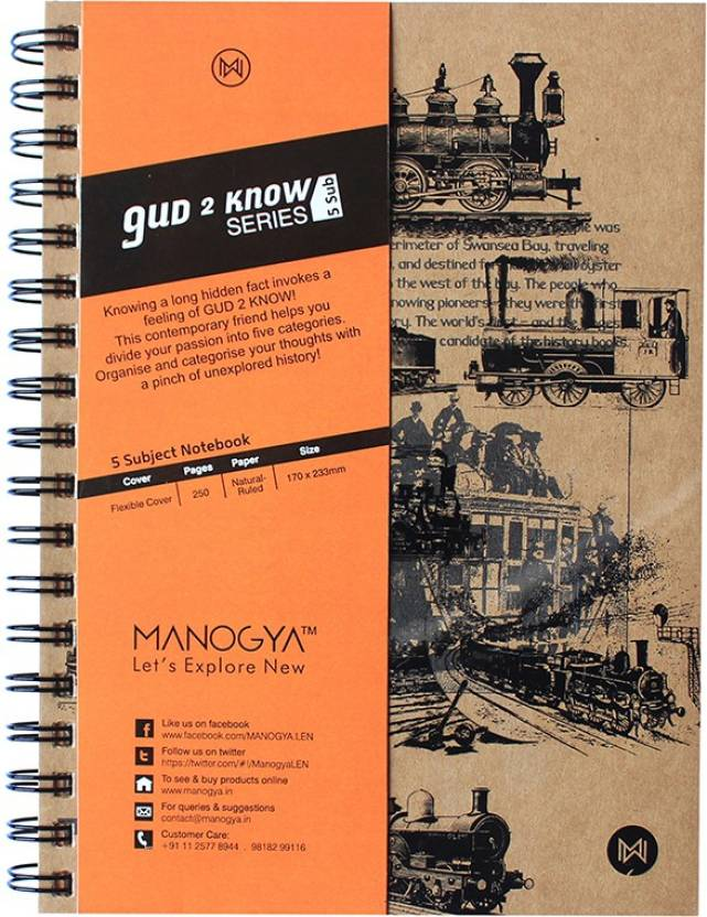 MANOGYA A5 Notebook Price in India - Buy MANOGYA A5 Notebook online