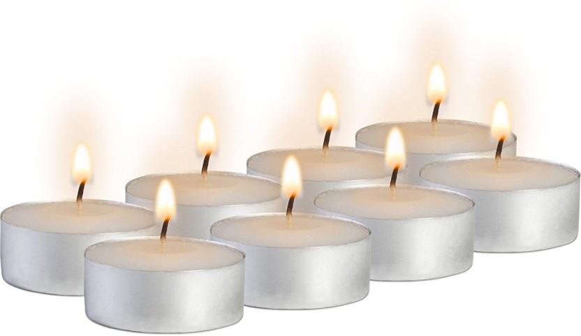 The Best Votive Candles Set of 30 White Unscented 10 Hour Burn Bulk Set Kit Pack
