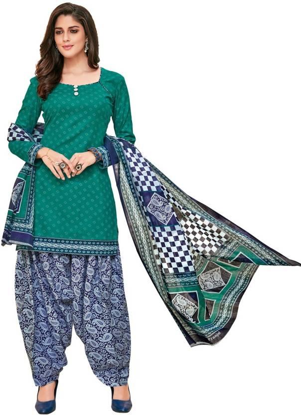 d8d4f1d39e Pranjul Cotton Printed Salwar Suit Dupatta Material Price in India ...