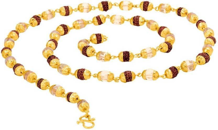 96894c9dff02a Voylla Gold Plated Faux Rudraksha Chain Gold-plated Plated Brass Chain