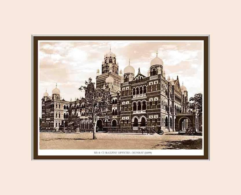 Old Vintage Bombay (Mumbai) Mounted Photo Frame of BB & CI Railway ...