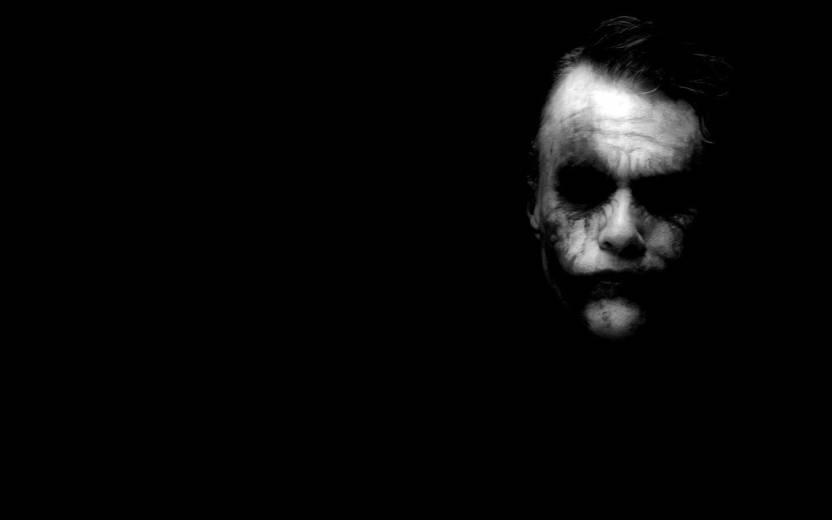 wall poster joker batman the dark knight heath ledger dark black