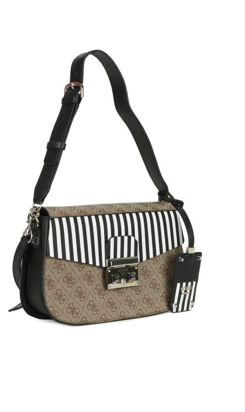 dd07f4e0fec7 Guess Women Casual Multicolor PU Sling Bag Multicolor - Price in India