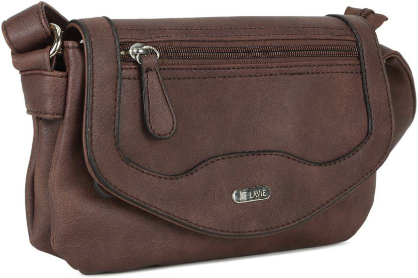 Lavie Women Brown PU Sling Bag