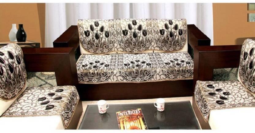 Zesture Jacquard Sofa Cover Price in India Buy Zesture Jacquard