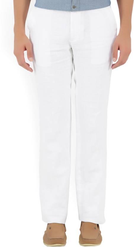 c3531b2425 Indian Terrain Regular Fit Men s Linen White Trousers - Buy White Indian  Terrain Regular Fit Men s Linen White Trousers Online at Best Prices in  India ...