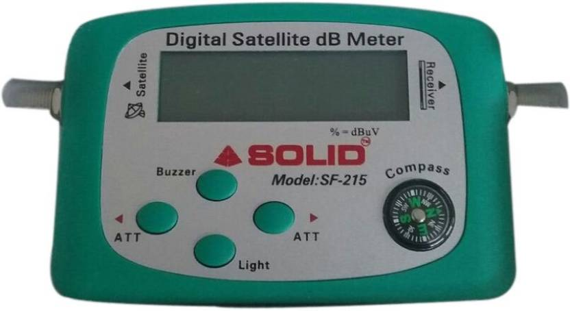 Webshoppers Solid - SF-215 Digital Satellite Signal Finder dB Meter Digital  Voltage Tester
